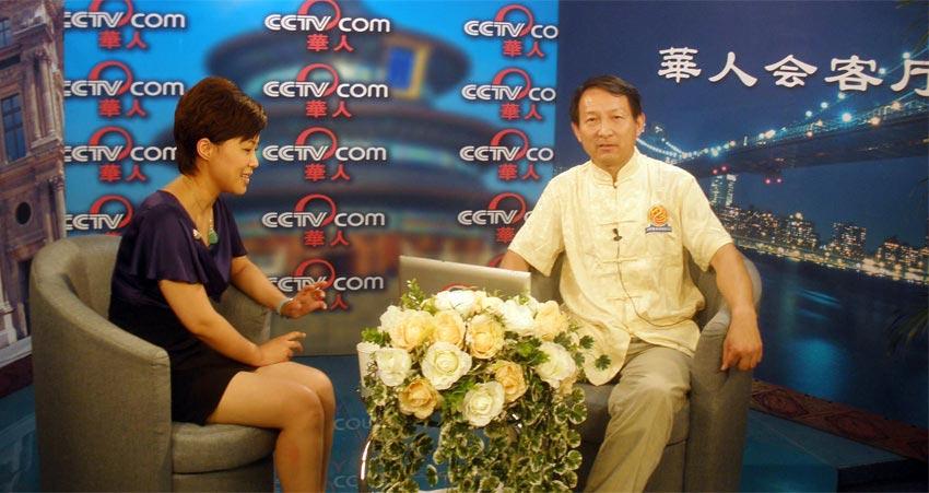 中央电视台央视网华人频道专访圣钟老师